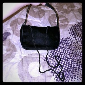 Small Black Fuzzy Purse